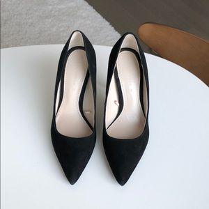 Zara Black High heeled suede shoes